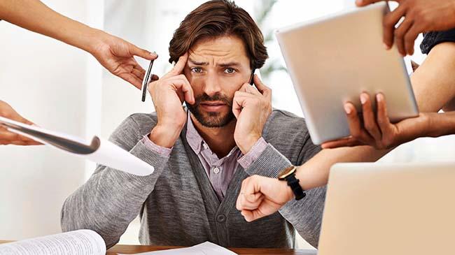 Estrés laboral por exceso de trabajo